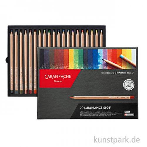 Caran d'ache - Luminance 6901, 20 Farbstifte im Set