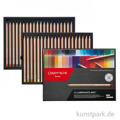 Caran d'ache - Luminance 6901, 40 Farbstifte im Set