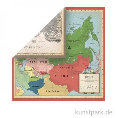 Cartography No.2 Scrappapier - Russia Map