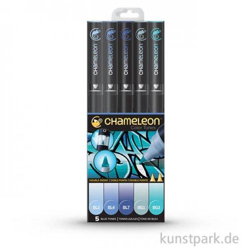 Chameleon Pen Set - 5 Blue Tones