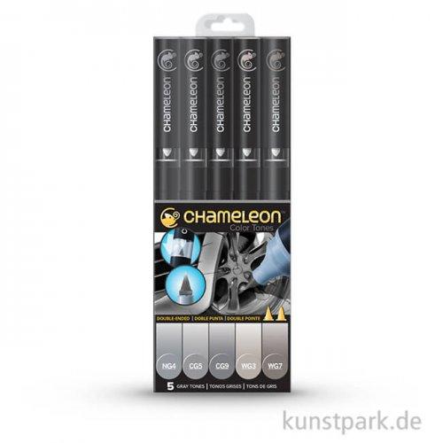 Chameleon Pen Set - 5 Gray Tones