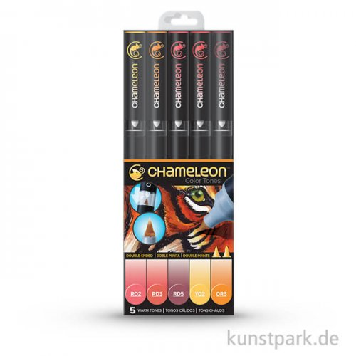 Chameleon Pen Set - 5 Warm Tones