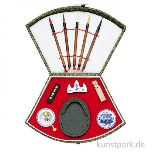 Chinesisches Tusche-Set Nr.4 Trapez mit 12-teiligem Zubehör