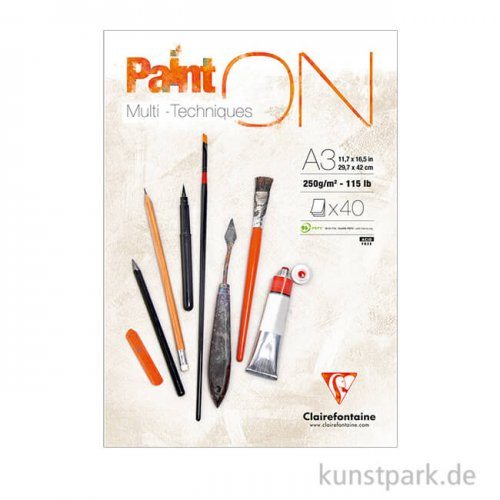 Clairefontaine - Paint'ON Papier, 250 g, 40 Blatt
