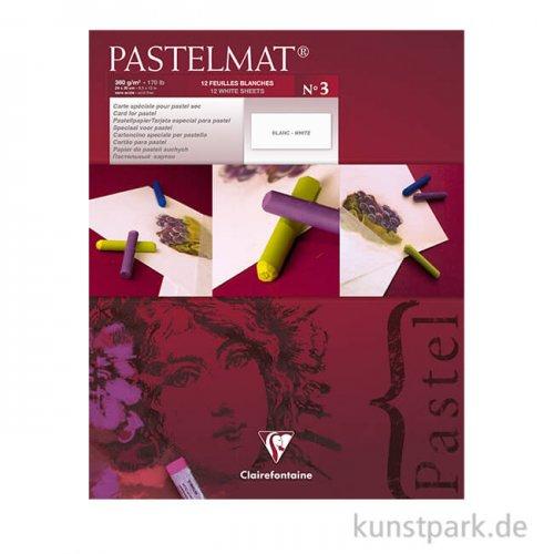 Clairefontaine Pastelmat - Weiß, 24 x 30 cm