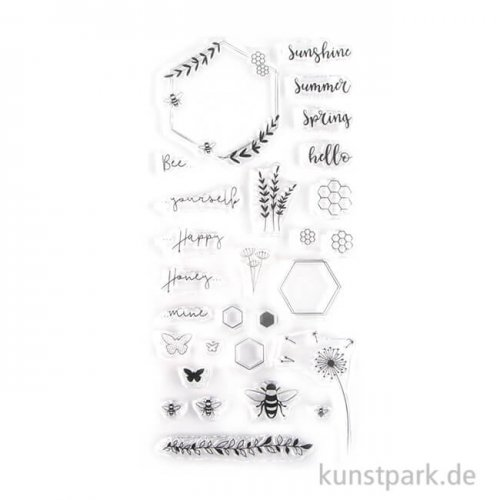 Clear Stamps - Bienensommer mit 28 Motiven