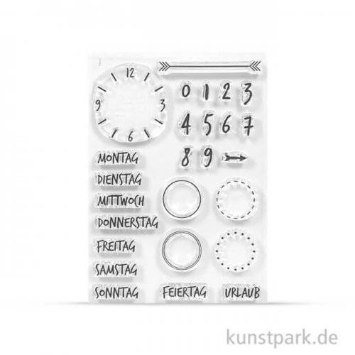 Clear Stamps für Journals - Kalender Mix-2, DIN A7
