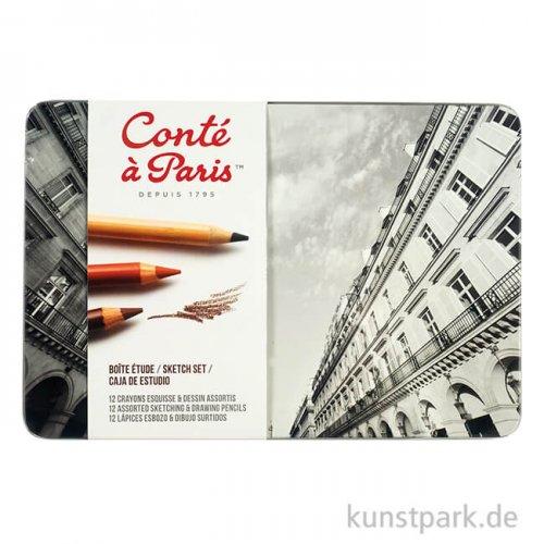 Conte Paris - 12er Sketchset, Skizzenstifte