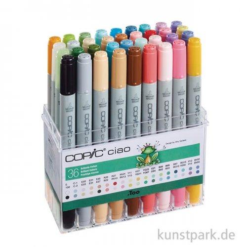 COPIC ciao Set - 36er Brillante Farben