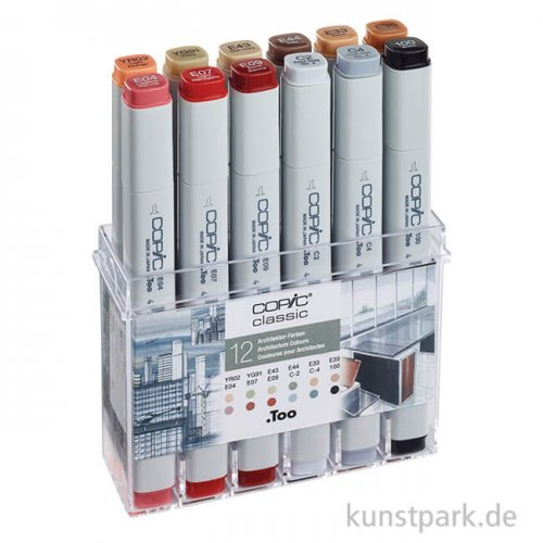 COPIC Marker Set 12er - Architekturfarben