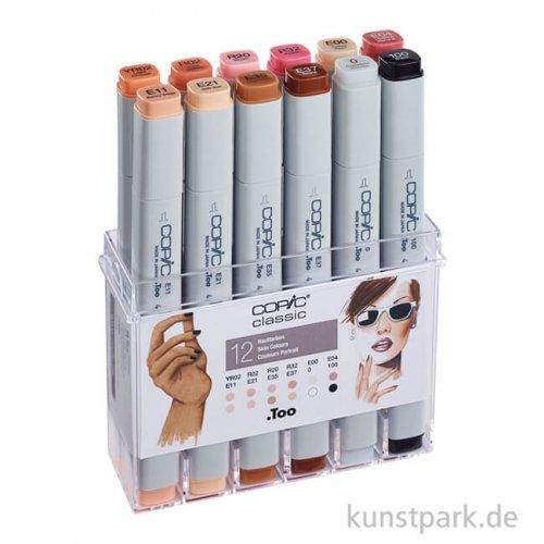 COPIC Marker Set 12er - Hautfarben