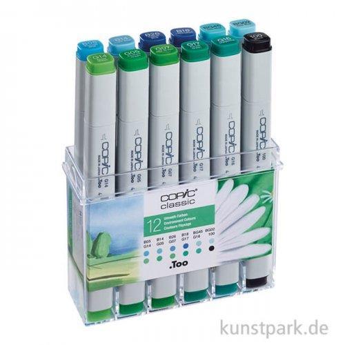 COPIC Marker Set 12er - Umweltfarben