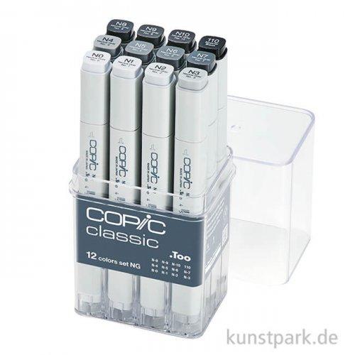 COPIC Marker Set 12er - Grau NG