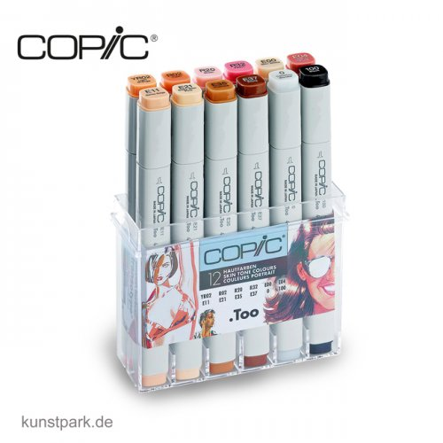 COPIC Marker Set 12er - Hautfarben