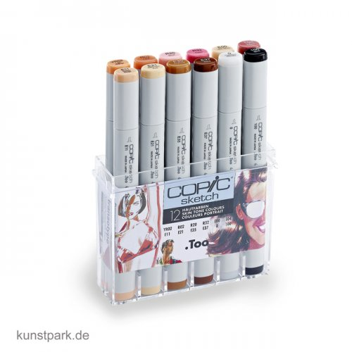 COPIC sketch Set 12er - Hautfarben