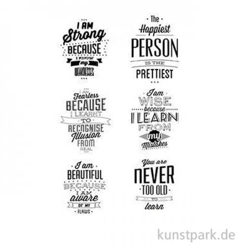 CraftEmotions Clear Stamps - Labels Lyrics, DIN A6