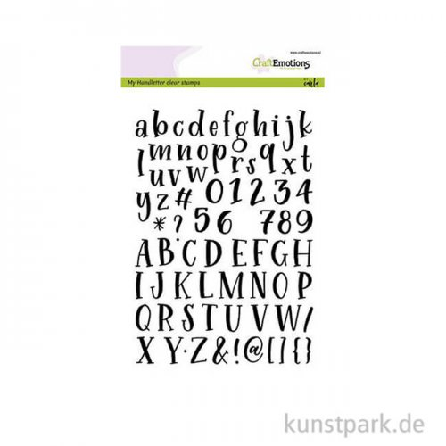 CraftEmotions Clear Stamps - Alphabet Typewriter, DIN A5