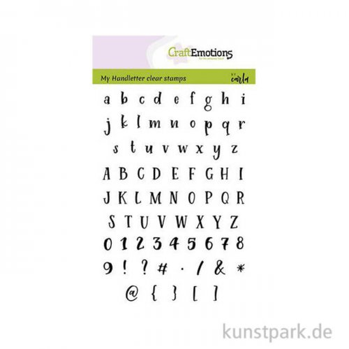 CraftEmotions Clear Stamps - Alphabet Typewriter, DIN A6