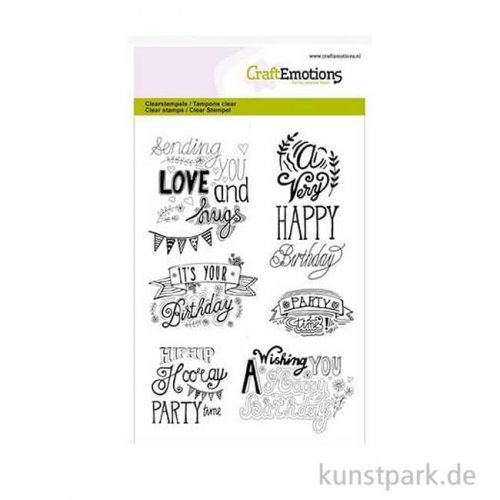 CraftEmotions Clear Stamps - Birthday, DIN A6