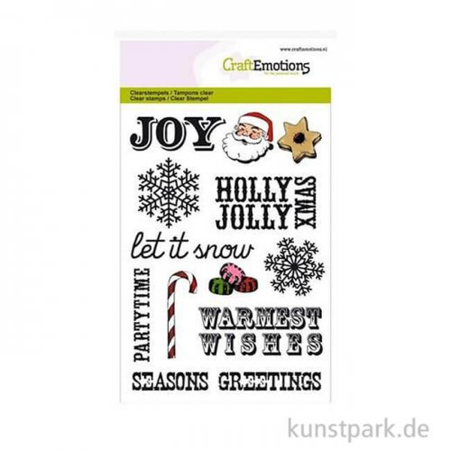CraftEmotions Clear Stamps - Christmas Sprüche, DIN A6