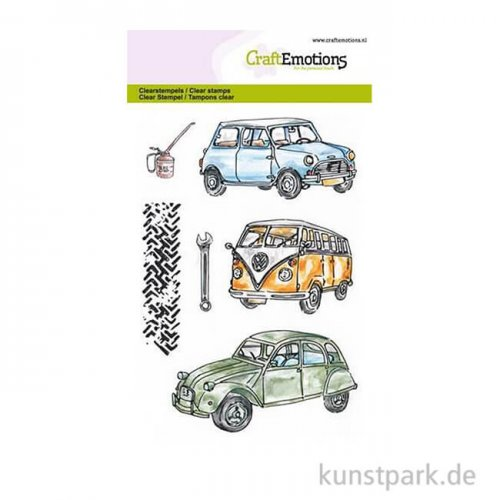 CraftEmotions Clear Stamps - Classic Cars, DIN A6
