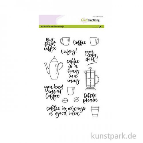 CraftEmotions Clear Stamps - Coffee Please, DIN A5