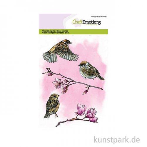CraftEmotions Clear Stamps - Gartenvögel, DIN A6
