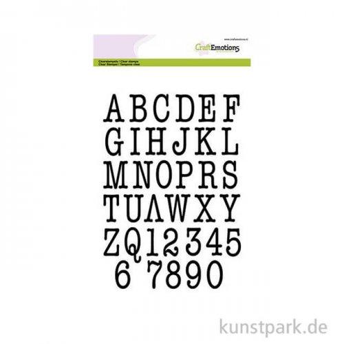 CraftEmotions Clear Stamps - Großbuchstaben Typewriter, DIN A5