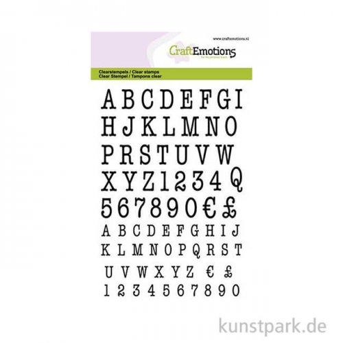 CraftEmotions Clear Stamps - Großbuchstaben Typewriter , DIN A6