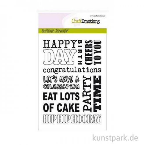 CraftEmotions Clear Stamps - Hintergrund Party, DIN A6