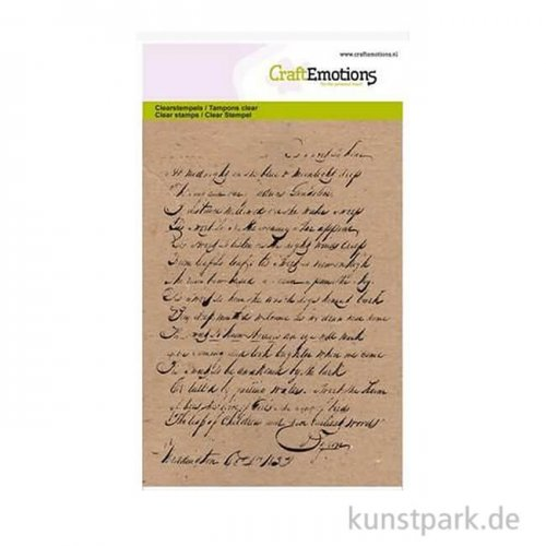 CraftEmotions Clear Stamps - Hintergrund Text, DIN A6