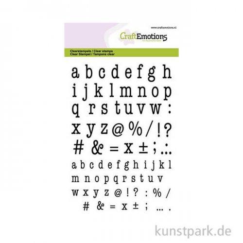 CraftEmotions Clear Stamps - Kleinbuchstaben Typewriter, DIN A6