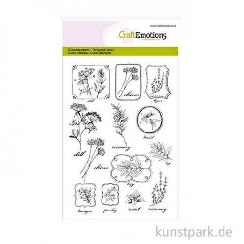 CraftEmotions Clear Stamps - Kräuter-Etiketten, DIN A6
