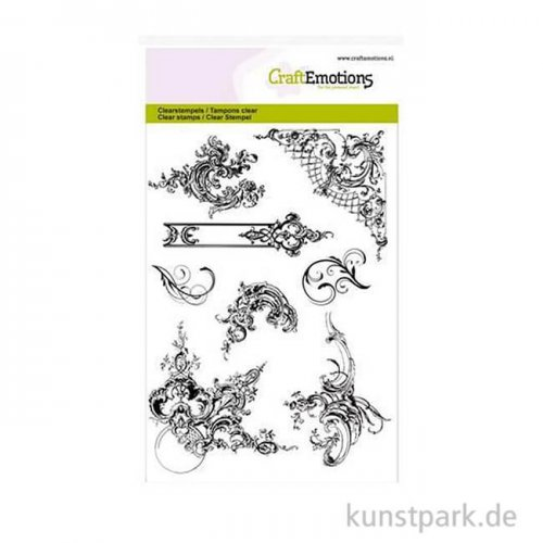 CraftEmotions Clear Stamps - Ornamente, DIN A6