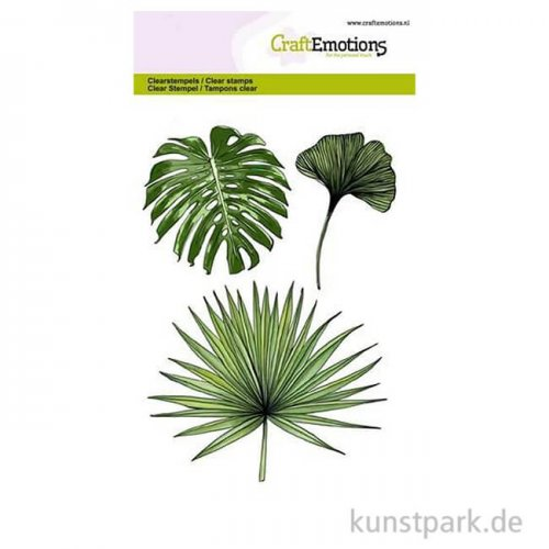 CraftEmotions Clear Stamps - Tropische Blätter, DIN A6