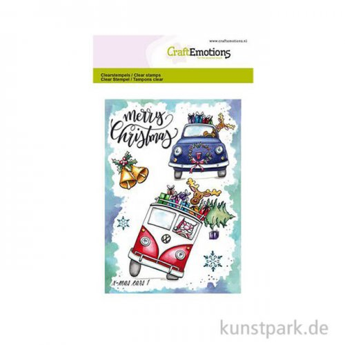 CraftEmotions Clear Stamps - X-mas Autos 1, DIN A6