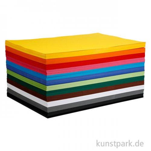 Creativ Karton 120 Blatt, 180g, 12 Farben sortiert DIN A2