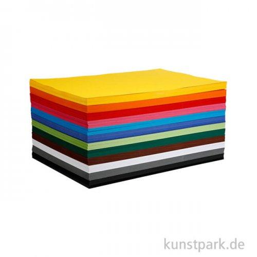 Creativ Karton 120 Blatt, 180g, 12 Farben sortiert DIN A4