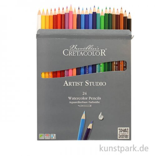Cretacolor ARTIST Studio - 24 Buntstifte, wasservermalbar