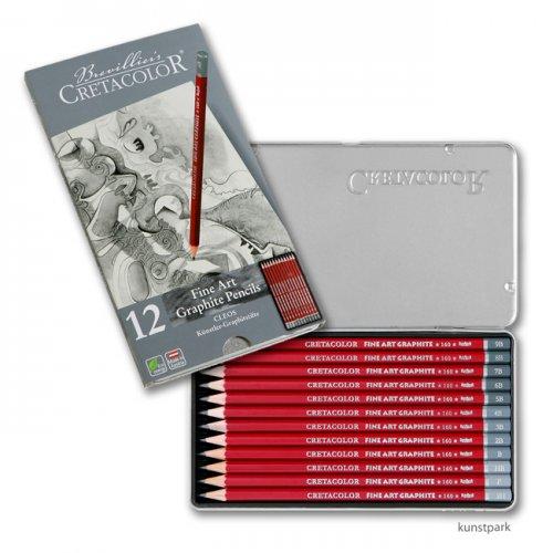 Cretacolor CLEOS Fine Art Graphit - 12er Set im Metalletui