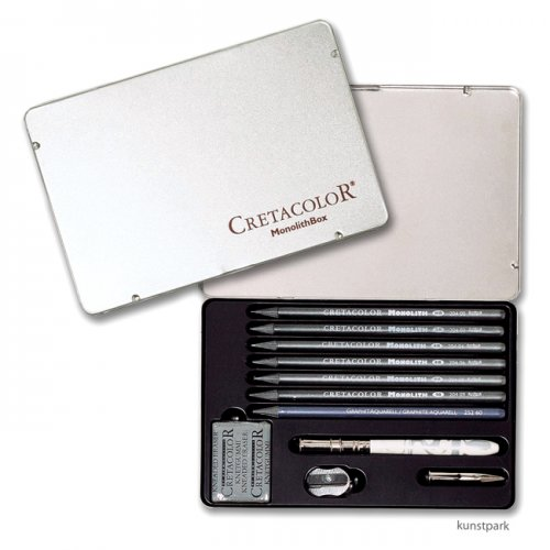 Cretacolor MONOLITH Graphitstifte - Box mit Zubehör