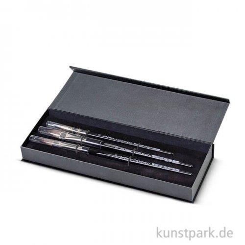 da Vinci - CASANEO Aquarellpinselset in Geschenkbox mit drei Pinseln