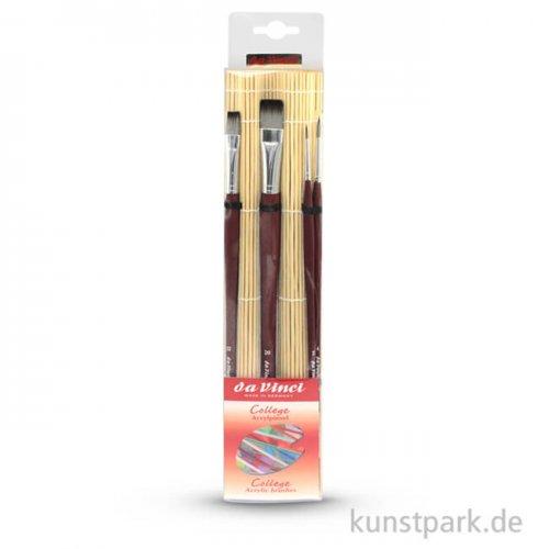 da Vinci COLLEGESET mit Bambusmatte und 4 Pinseln