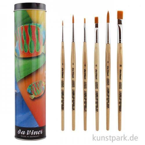 da Vinci Geschenkdose - 6 verschiedene Pinsel JUNIOR