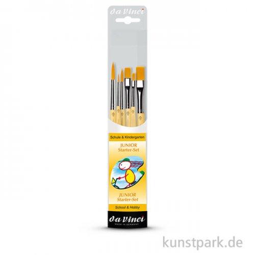 da Vinci Pinselset JUNIOR 6 Pinsel für Schule und Kindergarten