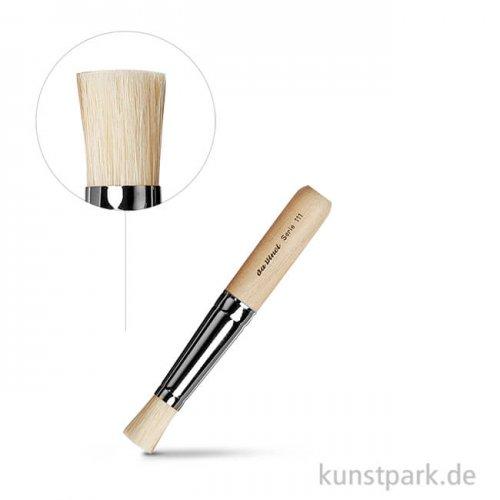 da Vinci Serie 111 - Schablonierpinsel mit kurzem rohen Zapfen