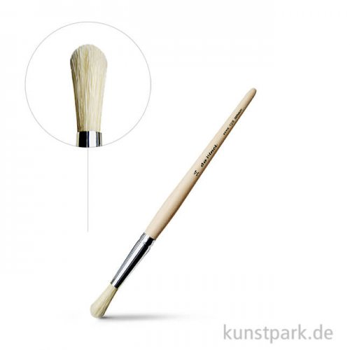 da Vinci Serie 128 - Borstpinsel rund kurze rohe Stiele