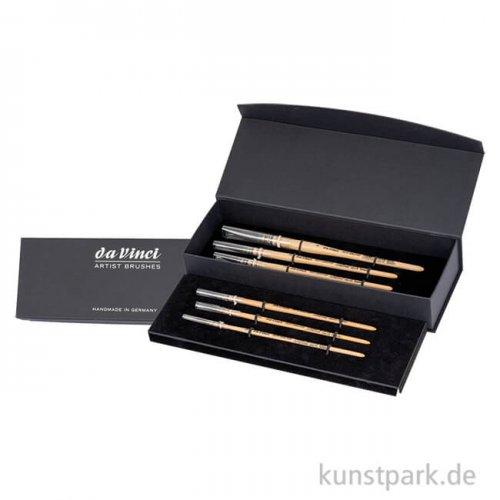da Vinci - Serie 418 Petit Gris Pur 6 Aquarellpinsel, Geschenkbox