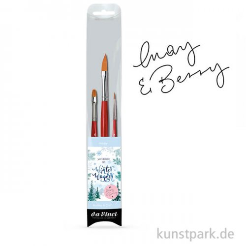 da Vinci - WINTER WONDER Watercolor-Set May & Berry mit drei Pinseln