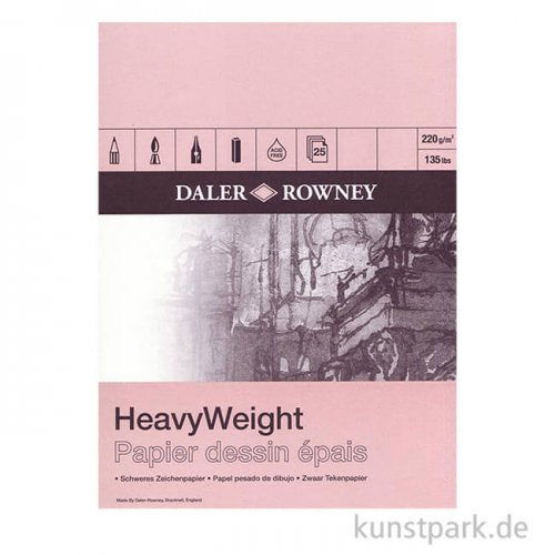 Daler-Rowney Zeichenblock HEAVY, 25 Blatt, 220g DIN A3